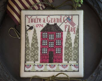 Free Gift w/Pre-order NEW Sampler House 3 counted cross stitch patterns by Plum Street Samplers at thecottageneedle.com