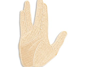 Vulcan Salute Patch, Iron On Patch, Gift, Accessory, Art, Pop Culture (PAT9)