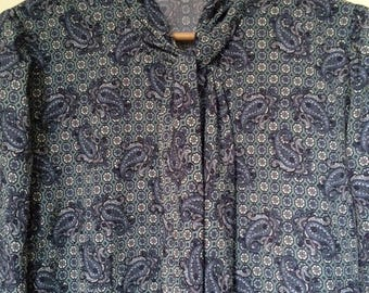 Vintage shirt with paisley print - as new