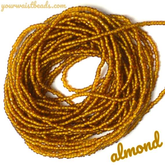 Waist Beads Custom fit ~Almond ~ YourWaistBeads.com