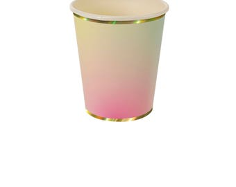 Ombre Paper Cups | Meri Meri Toot Sweet Party Cups | Watercolor Ombre Cups | Pastel Paper Cups