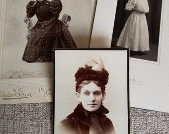 Antique Photography Lot Assorted Mix 14 Pieces Women Portraits Originals Cabinet Cards Early 1900s Paper Ephemera Collectibles
