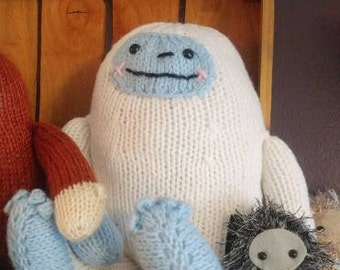 Yuri the Yeti - hand knit plush abominable snowman, bigfoot sasquatch friend