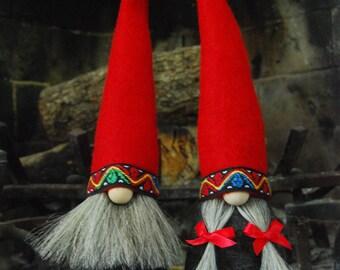 Mr & Mr Gnome in all natural materials