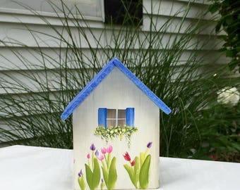 Weathered Coastal Cottage Birdhouse