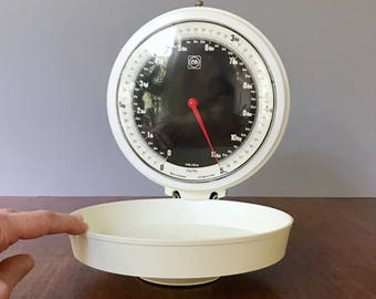 Vintage Eva Danish / Denmark Wall Mount Scale Folding White Plastic / Metal