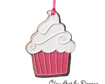 Cupcake cookie ornament keepsake
