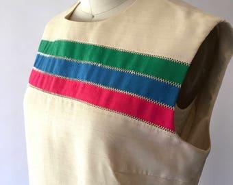 vintage 1960s mod shift dress / size small medium