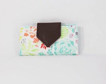Basic Wallet - spring fling - vegan leather