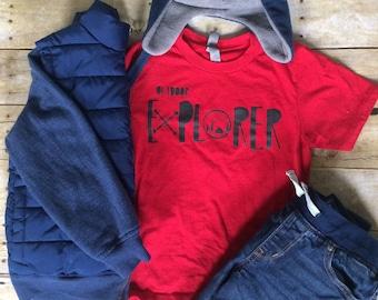 Kids Outdoor Explorer shirt Outdoor Adventurer Kids Tee Nature Lover Shirt Outdoor Explorer Explore Outdoors