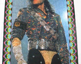 Vintage Michael Jackson Rug-Carpet-wall hanging- tapestry -decor- king of pop MJ-Neverland-rare memorabilia Collectable -Kitsch-mat floor