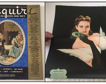 Vintage January 1941 Esquire Magazine Vargas Getty Centerfolds 179 Pages
