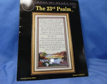 The 23rd Psalm Counted Cross Stitch Chart, Cross My Heart, CSL -50, 1991 Melinda