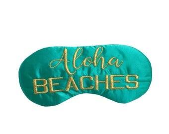 ALOHA Beaches sleep mask