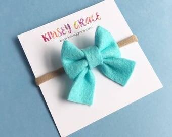 Baby Bows, Sailor Bows, Newborn Headband, Baby Headband, Baby Girl, Nylon Headband, Schoolgirl Bow, Baby Hair Bows, Girls Headbands, Hairbow
