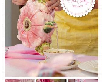 PARTY PLAN: Vintage Tea Party Plan - Tea Party Plan - Tea Party - Girls Tea Party Birthday - Tea Party Birthday - Tea Party Ideas