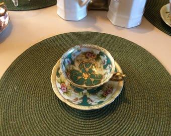 Teacup, SAJI , Fancy China, Clover