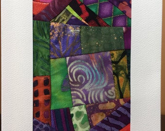 Blank Notecards//Frameable Art Quilt//Quilt Card//Thank You Note Card//Greeting Card//Hostess Gift//Thank You Gift//FREE SHIPPING