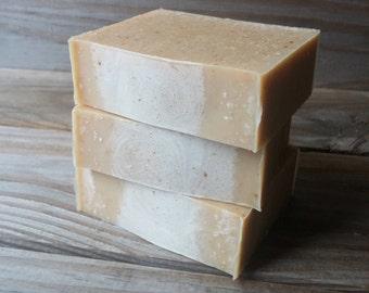 Turmeric & Coconut Milk Honey Facial Soap, Handcrafted All Natural Cold Process Soap, Turmeric Soap, Coconut Milk Soap, Honey Soap, Facial