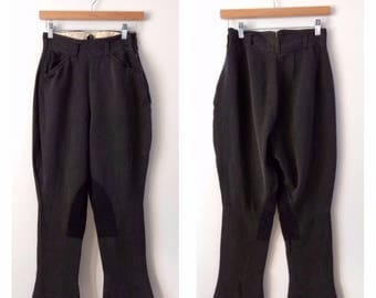 Vintage 1930s 1940s jodhpurs breeches,  vintage riding pants, size small