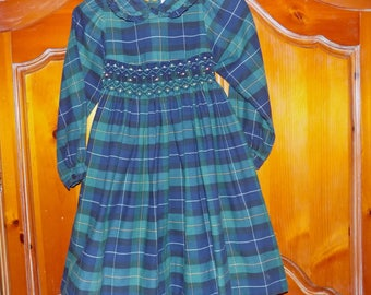 Sz. 6x, Plaid Smocked Dress