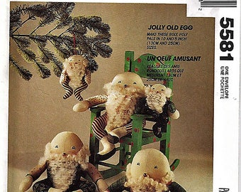 Jolly Old Egg Doll / McCall's Crafts Uncut Sewing Pattern 5581