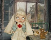 Blythe  ~ RESERVED for LISA ~ 1900s   Red Cross Nurse ~ 3 Piece Outfit  ~  By KarynRuby