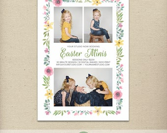 Easter Mini Session Template, Easter Mini Sessions, Easter Minis, Easter, Photography Special, Promotion, Advertising, Marketing  - E86
