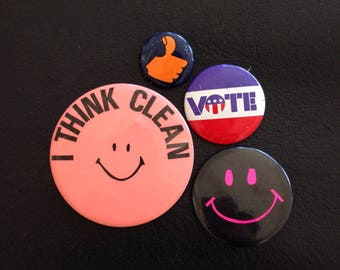 Buttons Pins Badges Smily Faces Clean Thumbs Up Vote Smile