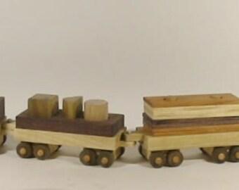 6 piece Heirloom-Quality Hardwood Train for Preschoolers