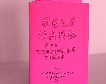 Self-care for terrifying times mini-zine