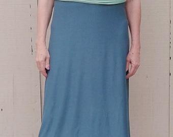 Womens dress, teal dress, summer dress, all occasion dress, bamboo rayon, maxi dress, curve friendly, soft, nice drape, comfortable