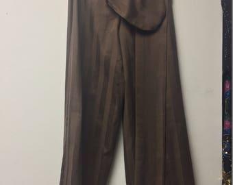BOYS PIRATE PANTS Brown stripe boy's Pirate Pants Buccaneer Pants Renaissance Costume Pants Wrap pants with matching drawstring bag and sash