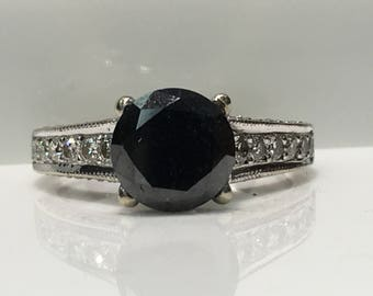 Handmade Diamond Engagement Ring in 14K Gold