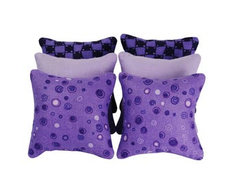 Purple Catnip Pillows (set of 6)