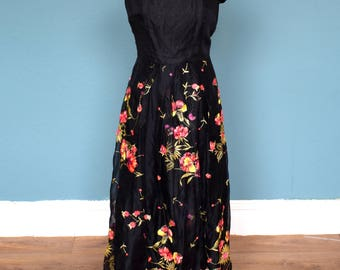 Vintage 70's Maxi / Evening Dress UK Size 10