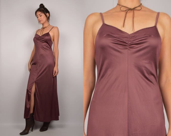 70's Vintage Rose Slip Dress