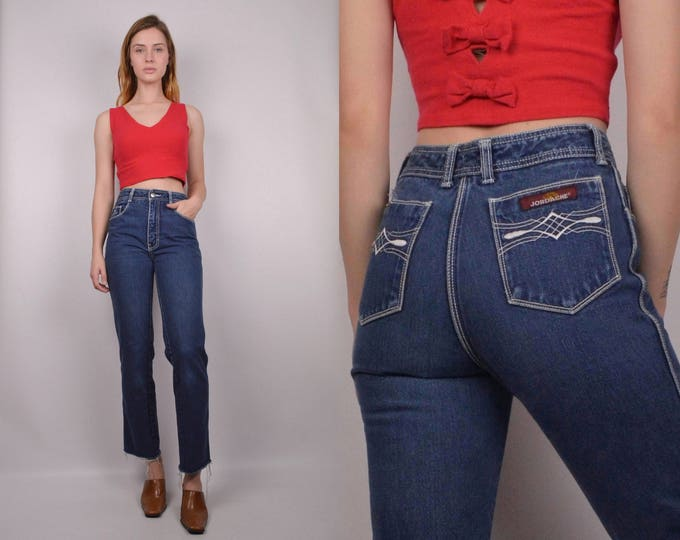 70's Jordache High Waist Crop Jeans
