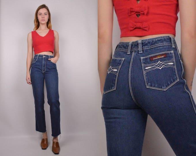 70's Jordache High Waist Crop Jeans