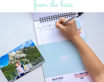 Letters to Grandma & Grandpa. Grandparents Day. Gift for Grandparents. Kid Letters. Gift for Moms. Postcards. Gifts from Kids.