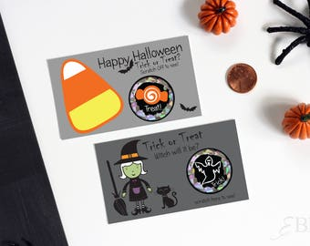 10 Halloween Party Game Trick or Treat Scratch Off Game Card