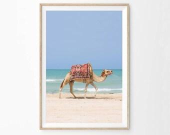 Desert Animal Print, Moroccan Decor Art Print Printable, Camel Print, Printable, Moroccan Camel Wall Art, Digital Instant Download, ca2c1c1