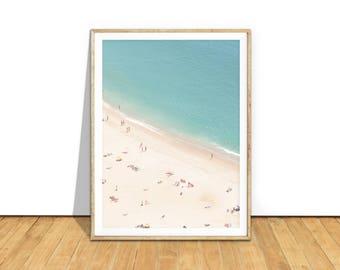 Aerial Beach Photography, Printable Beach Wall Art Print Digital Download, Beach Print, Beach Photo Poster, Beach Printable Art Decor b1c5c