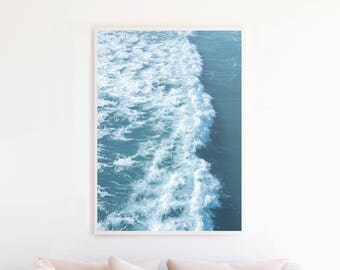 Ocean Art, Ocean Printable Decor, Ocean Print, Ocean Photography, Beach Decor, Beach Wall Art Print, Digital Download, Ocean Waves Art o9cp