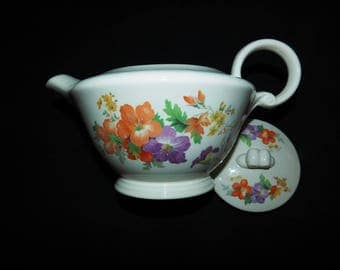 Vintage Edwin Knowles Hibiscus Teapot - 1930's - from DustyMillerAntiques