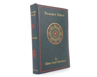 c.1900 Treasure Island Book by Robert Louis Stevenson Pirates Tale of Buried Treasure Classic Young Adult Literature