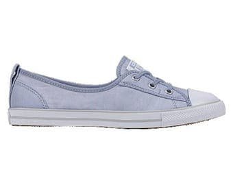 Custom Converse Low Top Slip On Ballet flat Light Blue Sky Wedding Lace Bridal w/ Swarovski Crystal Chuck Taylor Rhinestone All Star Shoes