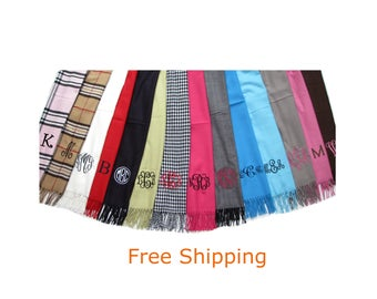 Scarf  - Monogrammed Scarves - Personalized Scarf - Free Shipping