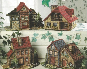 Plastic Canvas Pattern Book Countryside Cottages - The Needlecraft Shop - Home Decor, Cottages, Houses, Village,