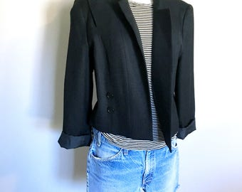 Vintage BLACK BLAZER/SUMMER Jacket/ Size Small-Medium-Large